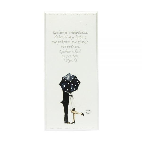 Personalizirana drvena slika savršeni je poklon za vjenčanja i godišnjice