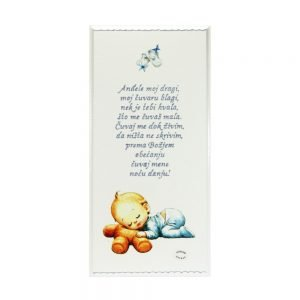 Personalizirana drvena slika savršeni je poklon za krštenja i rođenja djeteta