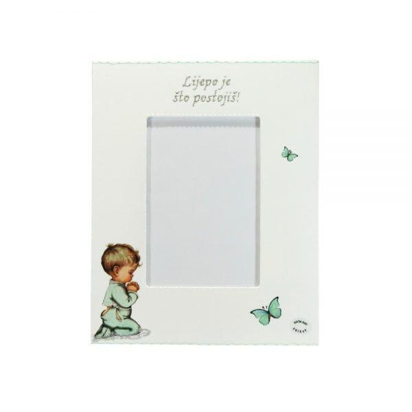 Personalizirani okvir za fotografije savršeni je poklon za krštenja, Sv. Pričest, rođendane, itd.