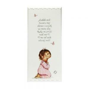 Personalizirana drvena slika savršeni je poklon za krštenja, Sv. Pričest, rođendane