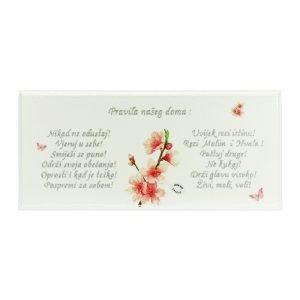Personalizirana drvena slika savršeni je poklon za rođendane, ili useljenja u novi dom