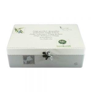 Personalizirana kutija uspomena savršeni je poklon kao uspomena na Sv. Potvrdu