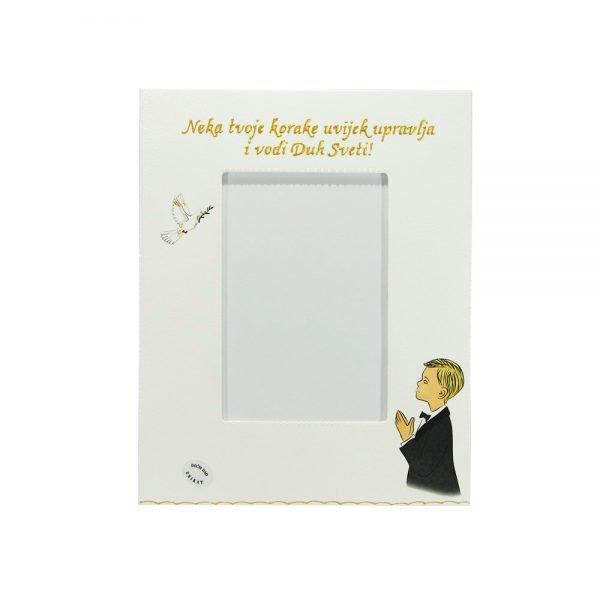 Personalizirani okvir za fotografije savršeni je poklon kao uspomena na Sv. Potvrdu