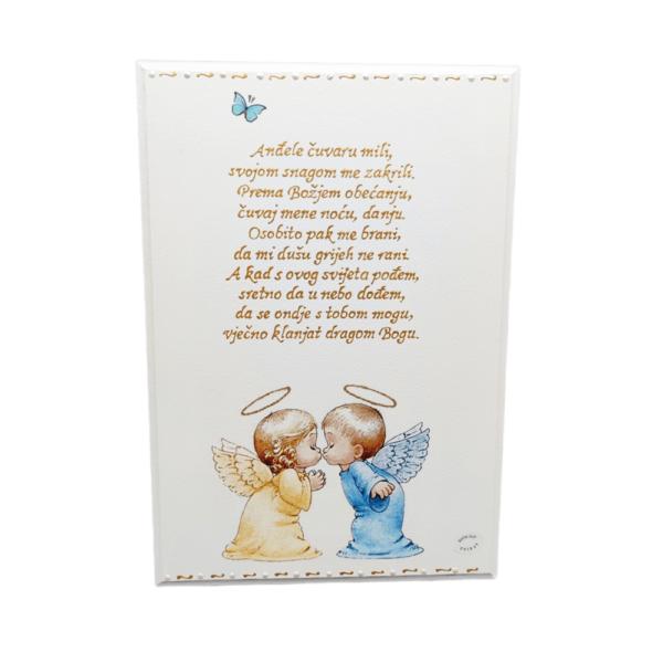 Personalizirana slika je poklon za krštenja, rođendane. Slika je ručni rad, nosi rukom pisan i pomno odabran citat baš za osobu kojoj darujete