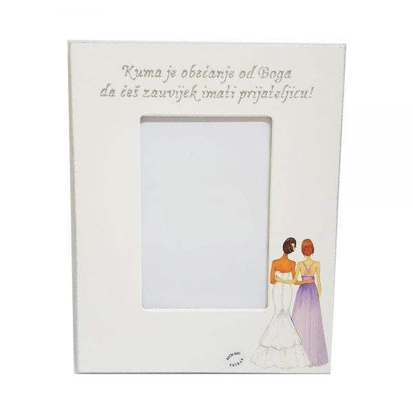 Okvir je unikat, ručni rad nosi rukom pisan i pomno odabran citat. Izrađen je od kvalitetnog mdf-a, ukrašen decoupage tehnikom, bojan akrilnim bojama.