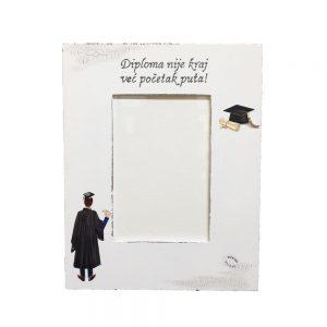 Personalizirani okvir za slike savršena je uspomena na dan diplomiranja.