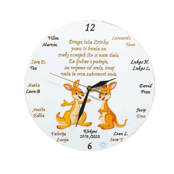 Sat izrađen po Vašim uputama, možemo ga personalizirati i sigurno će biti lijepi dodatak poklon, koji će ostati kao trajna uspomena.