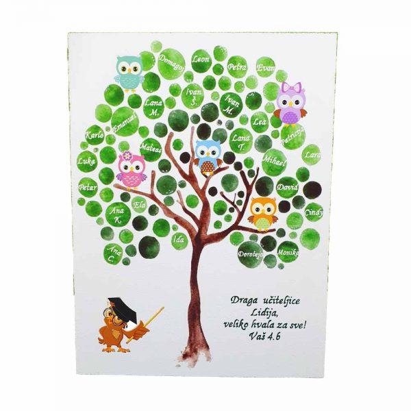 Personalizirana drvena slika savršeni je poklon za vjenčanja, godišnjice ili kao poklon odgojiteljima u vrtiću ili učiteljima u školi