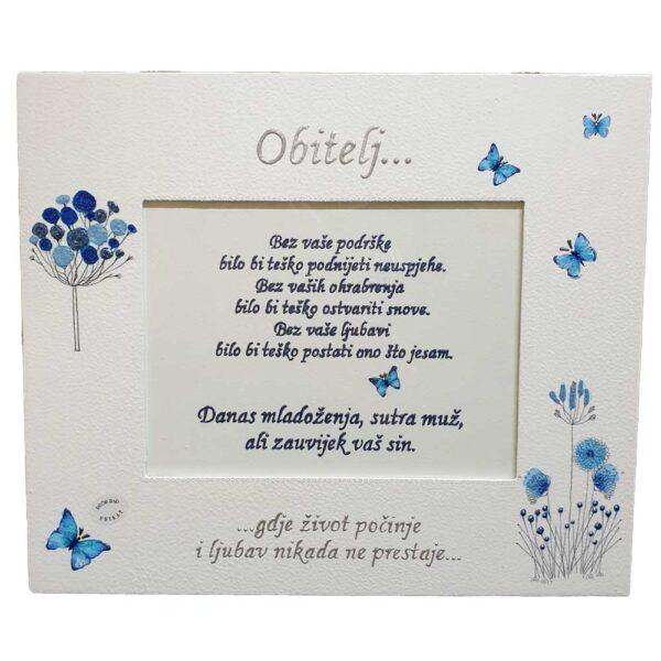 Okvir za zajedničku vjenčanu fotografiju s roditeljima zauzet će počasno mjesto bilo na zidu bilo na nekom djelu namještaja.