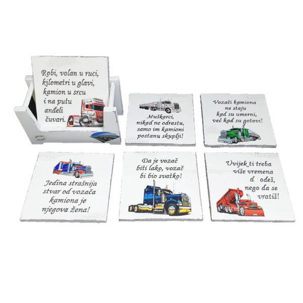 Podmetači za čaše - Vozač kamiona