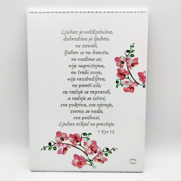 Personalizirana slika je poklon za vjenčanje. Slika je ručni rad, nosi rukom pisan i pomno odabran citat baš za osobu kojoj darujete