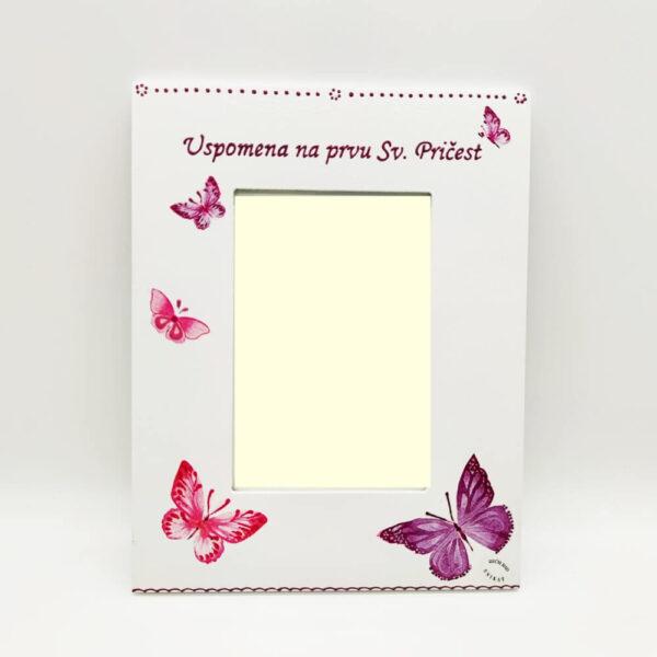 Personalizirani okvir savršeni je poklon za krštenja, Pričest, rođendane. Okvir je ručni rad, nosi rukom pisan citat baš za osobu kojoj darujete