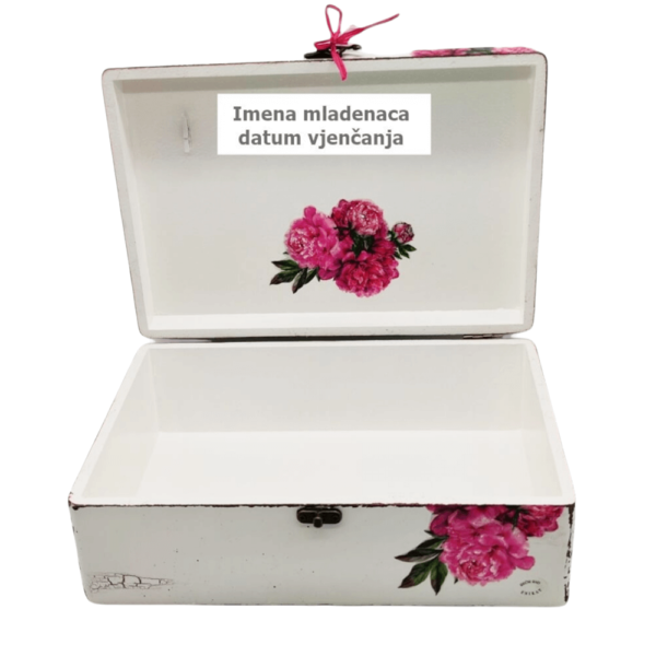 Personalizirana Kutija uspomena poklon je za vjenčanje, godišnjice. Kutija je ručni rad, nosi rukom pisan i pomno odabran citat.