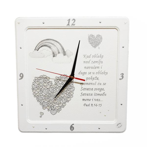 Personalizirani sat je poklon za vjenčanje, godišnjicu braka. Sat je ručni rad, nosi rukom pisan i pomno odabran citat baš za osobu kojoj darujete